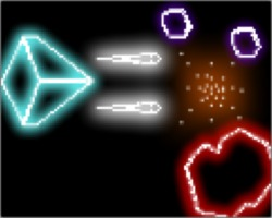Play Neon Asteroids